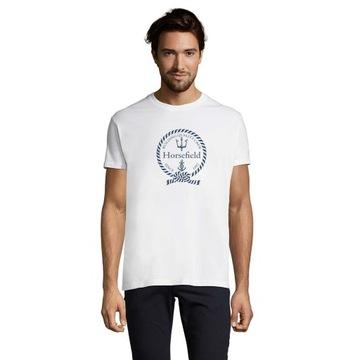 T-shirt 200g roz.L z nadrukiem morskim