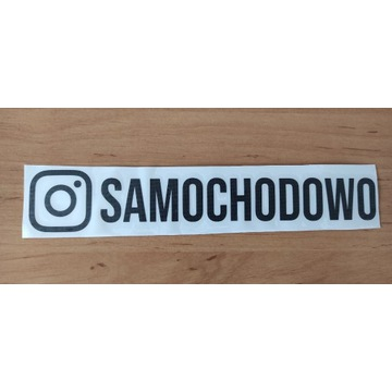 Naklejka na samochód Instagram SAMOCHODOWO