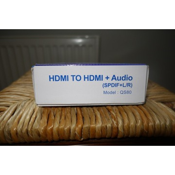 Konwerter HDMI do HDMI plus audio QS 80