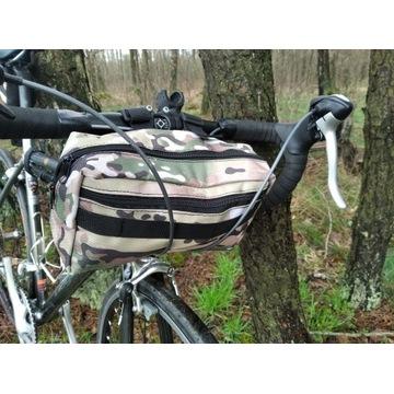 bikepacking torba na kierownice i nerka 2w1