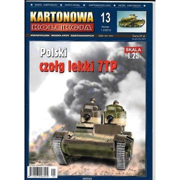 Kartonowa Kolekcja 13 7tp dwuwieżowy model czołg
