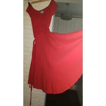 Czerwona sukienka ZYGZAK S