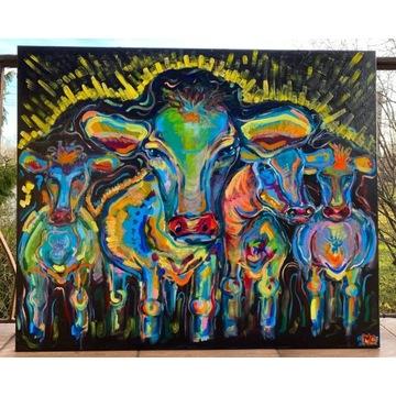 Obraz Abstrakcja Krowy 120 x 100 cm