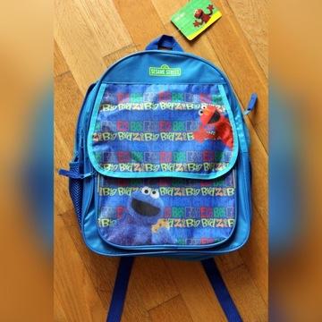 PLECAK niebieski - Ulica Sezamkowa Elmo i Potwór