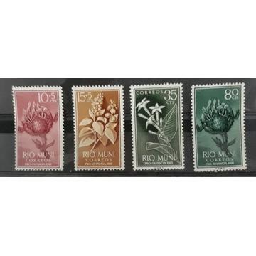 Znaczki czyste RIO MUNI kolonie hisz 1960r Mi10-13