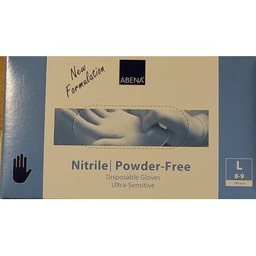 Rękawiczki Rękawice nitrylowe 100 szt. L bezpudr.