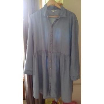 Sukienka koszulowa z lyocellu, h m 40