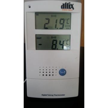 mówiący termometr wewn. i zewn.