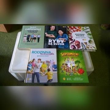 Książki kuchnia Lidl, Biedronka 5 szt