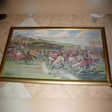 Obraz olejny - Parada Kawalerii na Krak. Błoniach