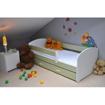 Łóżko dziecięce z szufladą (biało/niebieskie)