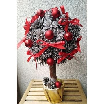 Drzewko / choinka świąteczna z szyszek