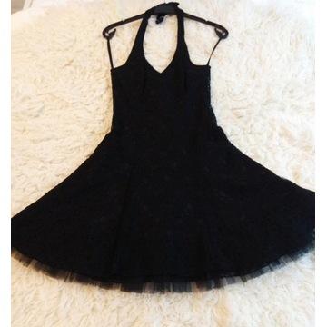 Sukienka z koronki r. 36 - S czarna