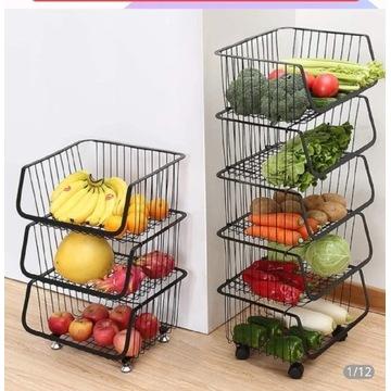 3- cześciowy stojak regał na warzywa owoce