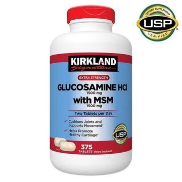 GLUKOZAMINA HCl 1500 mg MSM 1500 mg 375tabletek
