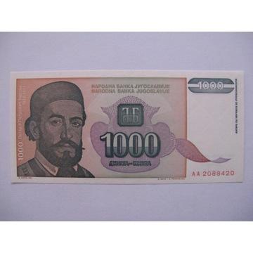 Jugosławia - 1000 Dinara - 1994 - P140 - St.1