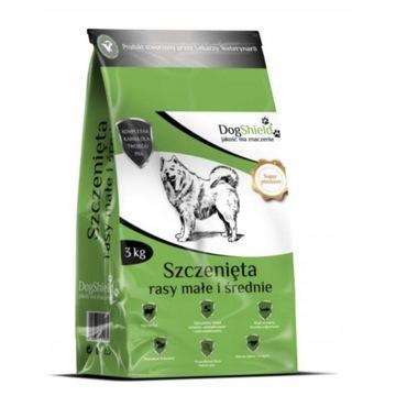 karma DogShield 3kg szczenięta,rasy małe i średnie