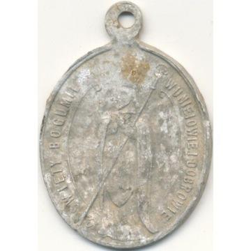 Pamiątkowy medalik 27.05.1925 Uniejów i Dobrowa