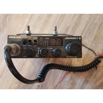 CB radio President Johnny II + antena + uchwyt