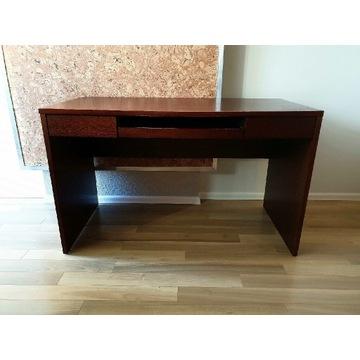 Drewniane biurko ciemny brąz