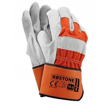 Rękawice ochronne RbStone wzmacniane skórą 72 pary