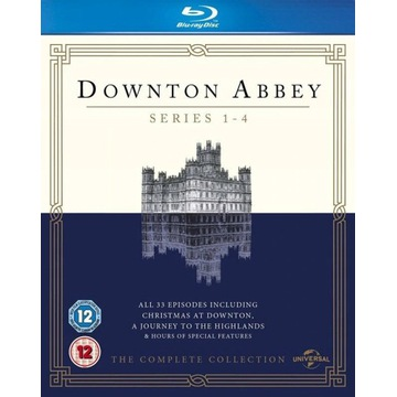 BLU-RAY, DOWNTON ABBEY, S 01,02,03, 04 WERSJA EN