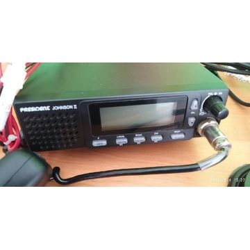 Radio CB President Johnson 2 + antena Hustler 1m