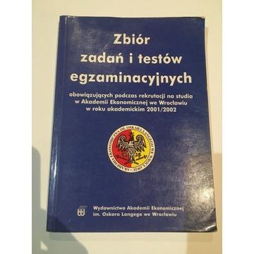 Zbiór zadań i testów egz. Akademii Ekonomiczne