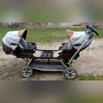 Wózek bliźniaczy, dla 2 i 3 dzieci, spacerówka