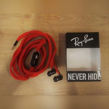 Słuchawki douszne – Ray Ban – sznurówki, mikrofon