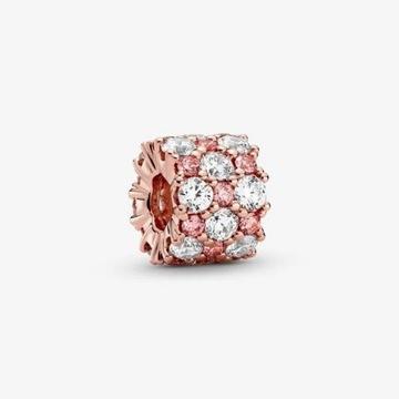 Pandora oryginalny charms nieprzerwany blask Rose