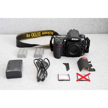 Nikon D700 body + 2 baterie karta i inne dodatki