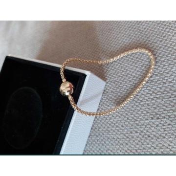 Złota bransoletka, baza do charms