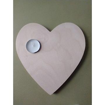 Świecznik serce  20cm x 20 cm