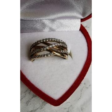 Złoty pierścionek 585 r. 16