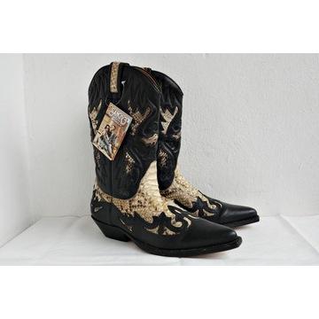 *Sancho Genuine Python Western Boots Vintage*_Nowe