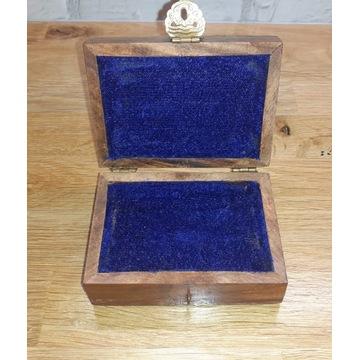 Szkatułka Pudełko Drewniane Na Biżuterię Prezent