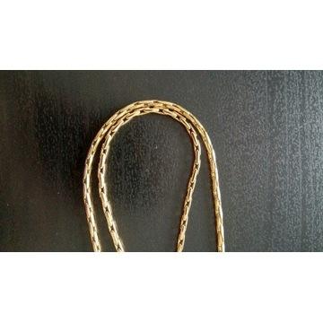 Łańcuszek/naszyjnik pozłacany dług. całk. 49 cm