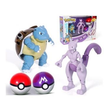 2 Figurki POKEMON, Blastoise +Mewtwo + Pokeball x2