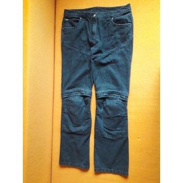 Damskie jeansy motocyklowe Vanucci.