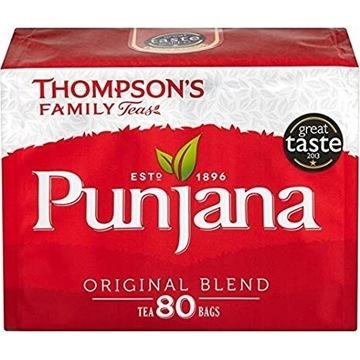 Thompsons Punjana Tea Herbata Czarna 80szt UK