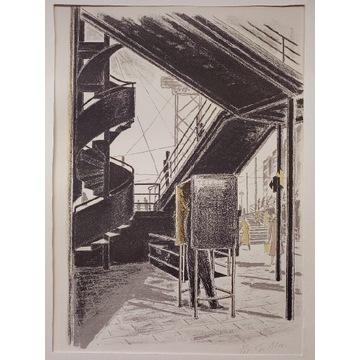 Litografia modernizm art deco - Francja lata '60