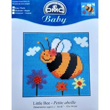 Haft krzyżykowy zestaw DMC baby Pszczółka