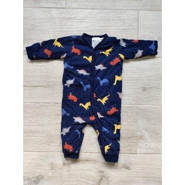 Watowana piżama piżamka kombinezon pajacyk 62 H&M