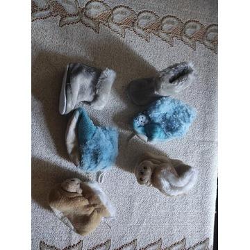 Zimowe kozaczki dla niemowlaka 0-3 miesięcy 3 pary