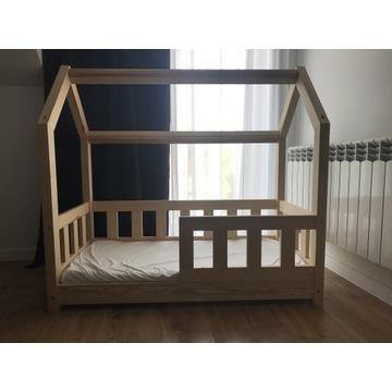 Łóżeczko drewniane domek skandynawskie 120x60