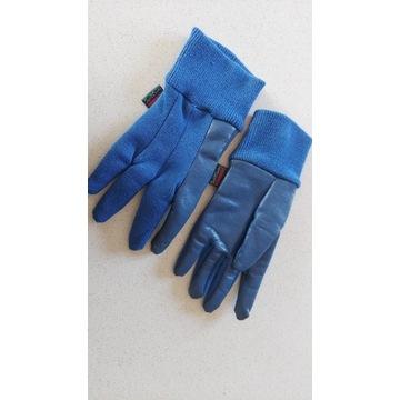Rękawiczki 5palczaste niebieskie guma 3-4lata 98cm