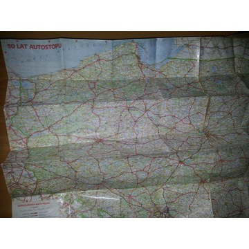 Mapa Polski 1988 30 lat autostopu