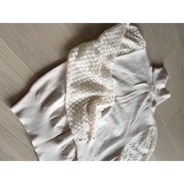 Sweter golf kremowy elegancki nowy Zara S
