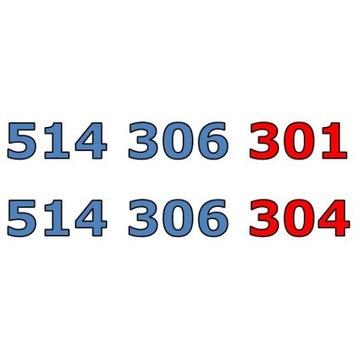 514 306 301 + 514 306 304 ORANGE ZŁOTY NUMER PARA
